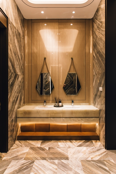 Bathroom renovation we completed in Echuca with a luxurious design